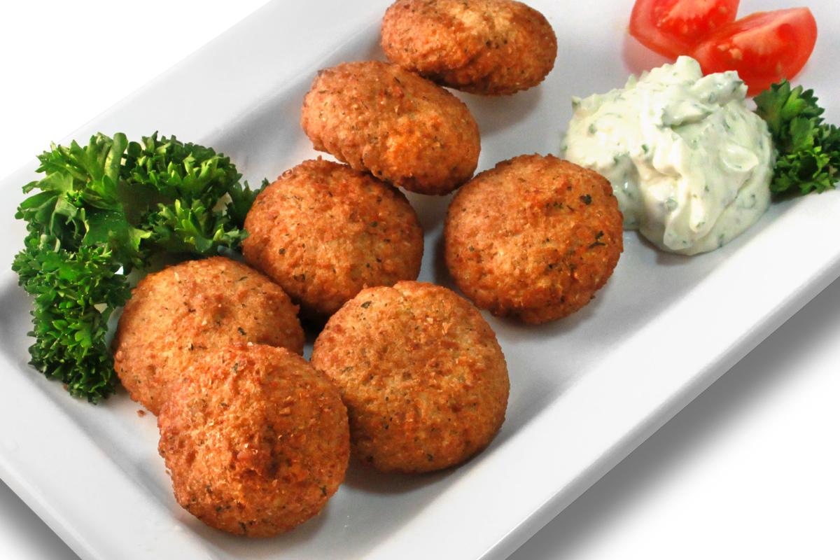 Ägyptische Falafel mit Soja-Knoblauch-Dip / 6,50 € p.P.