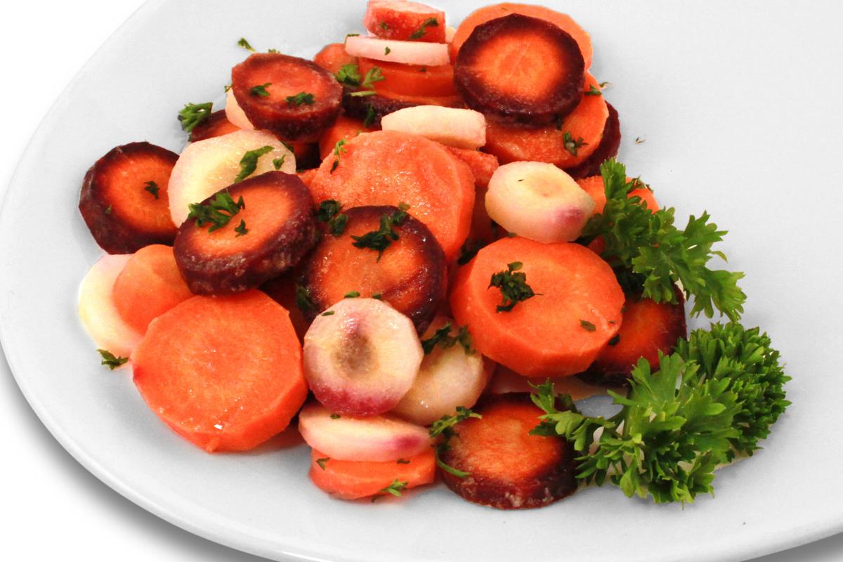 Bunte Karotten-Gemüsemischung / 2,50 € p.P.