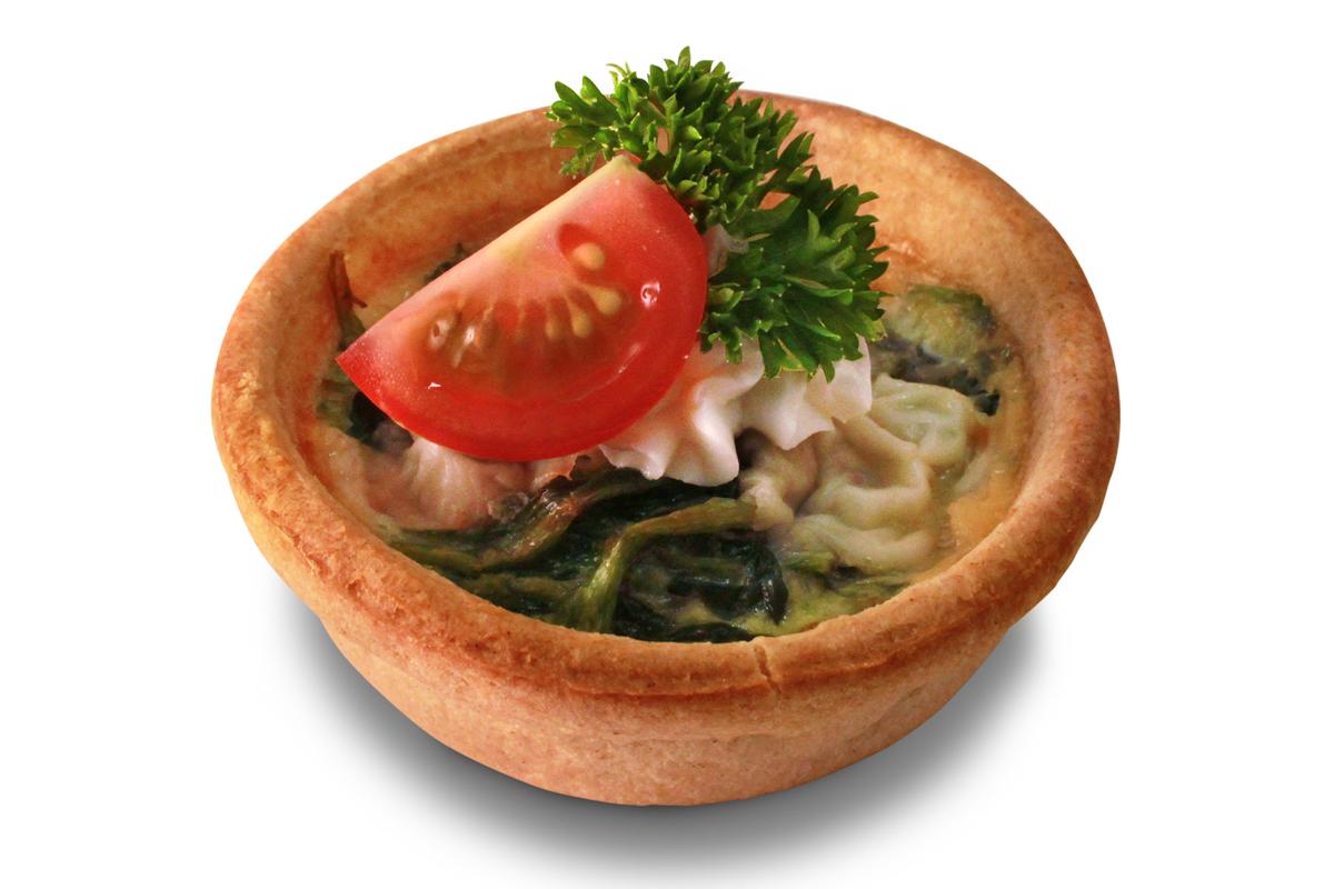 Spinat Quiche mit Grana Padano / 2,10 € p.P.